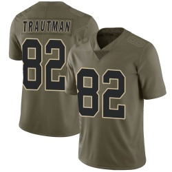 Adam Trautman New Orleans Saints Men's Limited Salute to Service Nike Jersey - Green