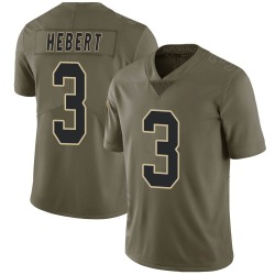 Bobby Hebert New Orleans Saints Youth Limited Salute to Service Nike Jersey - Green