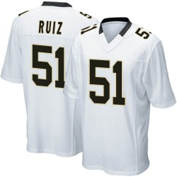 Cesar Ruiz New Orleans Saints Youth Game Nike Jersey - White