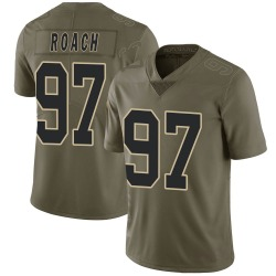 Malcolm Roach New Orleans Saints Men's Limited Salute to Service Nike Jersey - Green